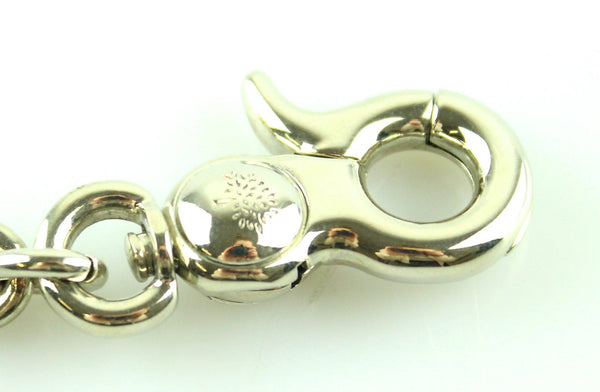Mulberry Silvertone Leo Key Ring/Charm