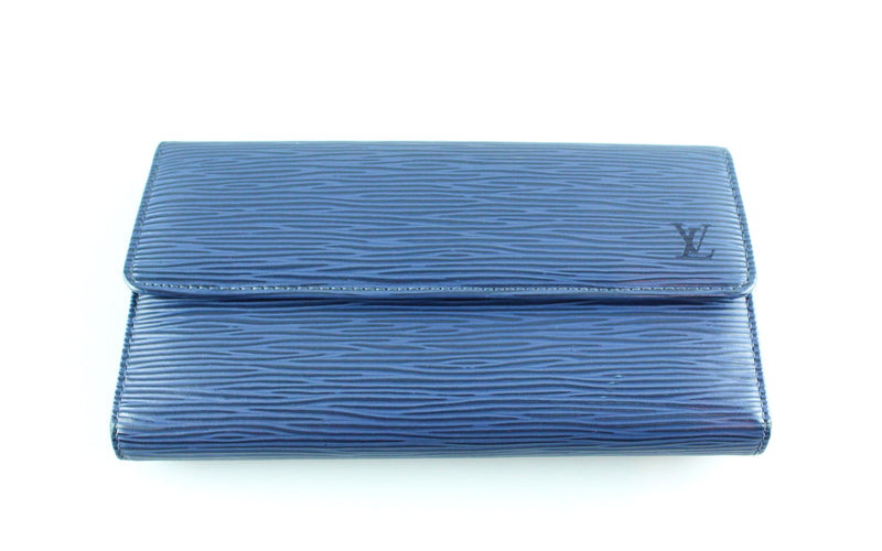 Louis Vuitton Myrtille Blue Epi Leather Porte Tresor CA0094