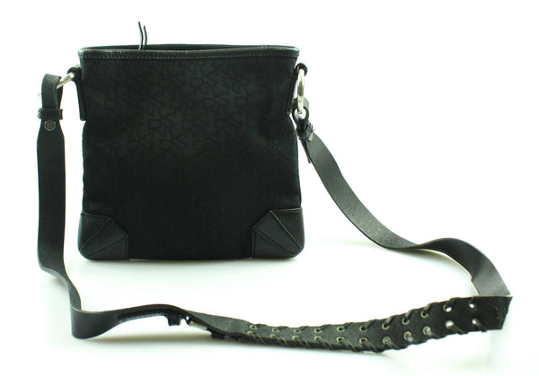 DKNY Small Messenger Black Mono Canvas