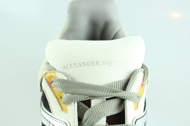 Alexander McQueen Mens Sole Sneakers Multi Wedge Silver 44/10 RRP €650