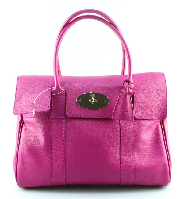 Mulberry Bayswater Glossy Goat Mulberry Pink