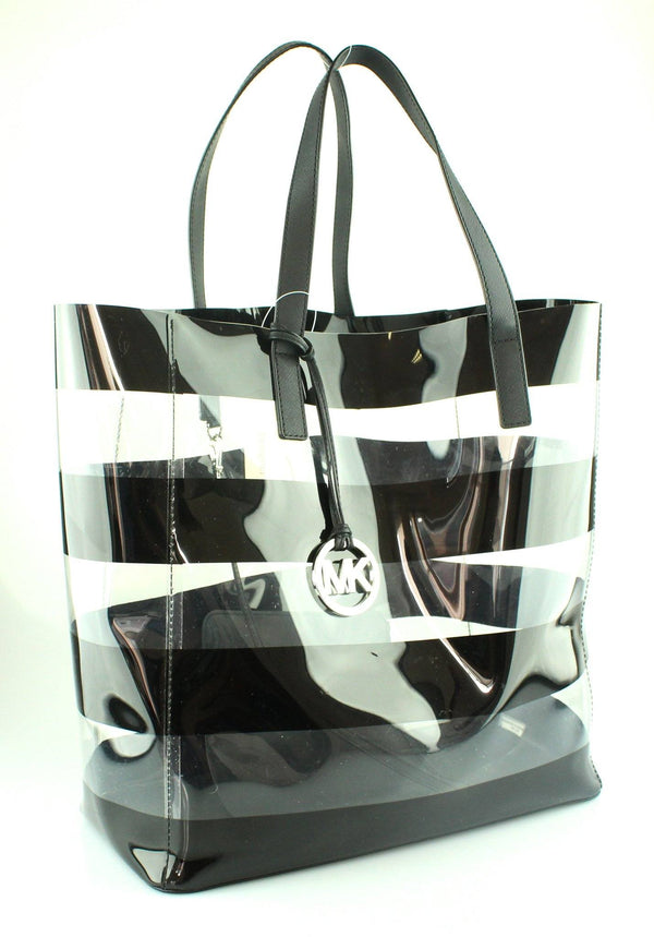 Michael Kors Eliza Striped Shopping Tote With Pochette