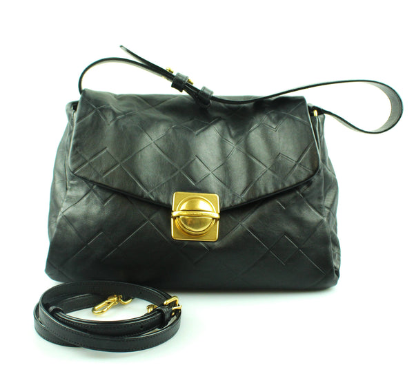 Marc My Marc Jacobs Circle In A Square Black Leather Shoulder Bag