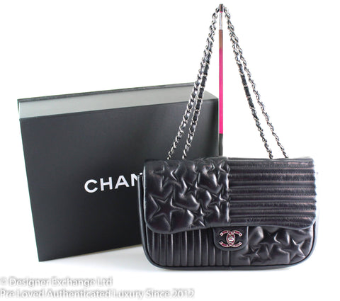 Chanel Paris Dallas Collection Stars And Stripes Lambskin Flap 2014 SH