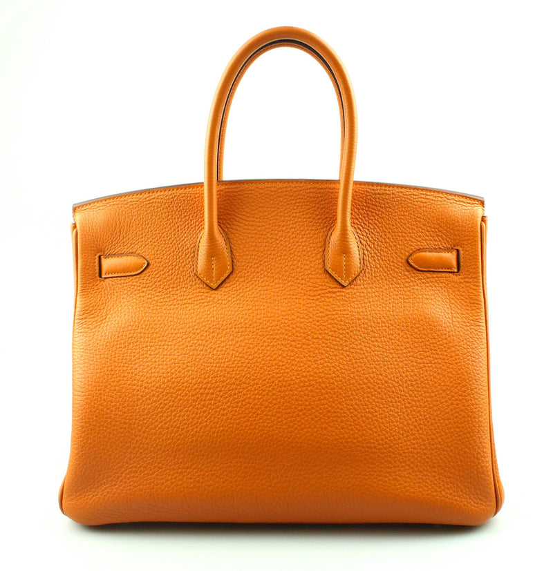 Hermes Birkin H Orange 35cm Togo Leather With Palladium Hardware (2010)