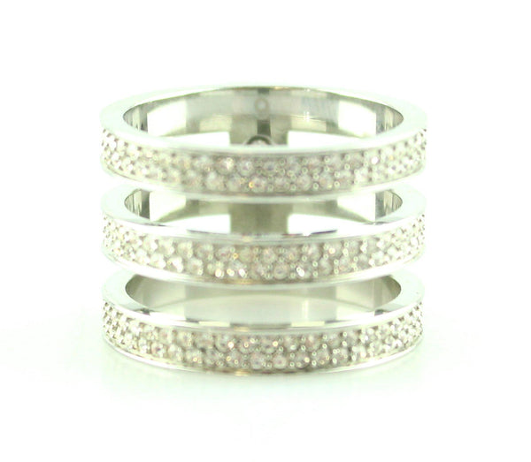 Michael Kors Silver Diamante Stack Ring