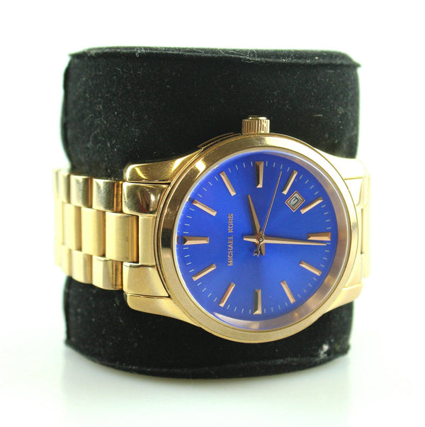 Michael Kors Rose Gold Blue Dial Runway Watch MK5913