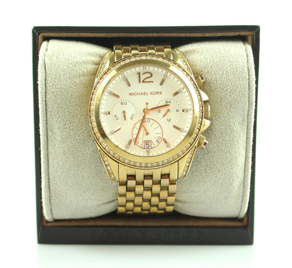 Michael Kors Pressley Rose Gold Chronograph Watch MK5836
