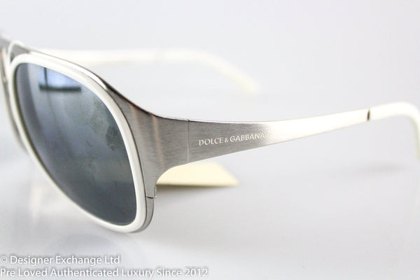 Dolce And Gabanna White Frame Sunglasses dg2037