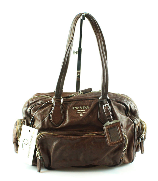 0723f8d8ae33a Prada Brown Calf Leather Easy Bag With Leather Lining – Designer Exchange  Ltd