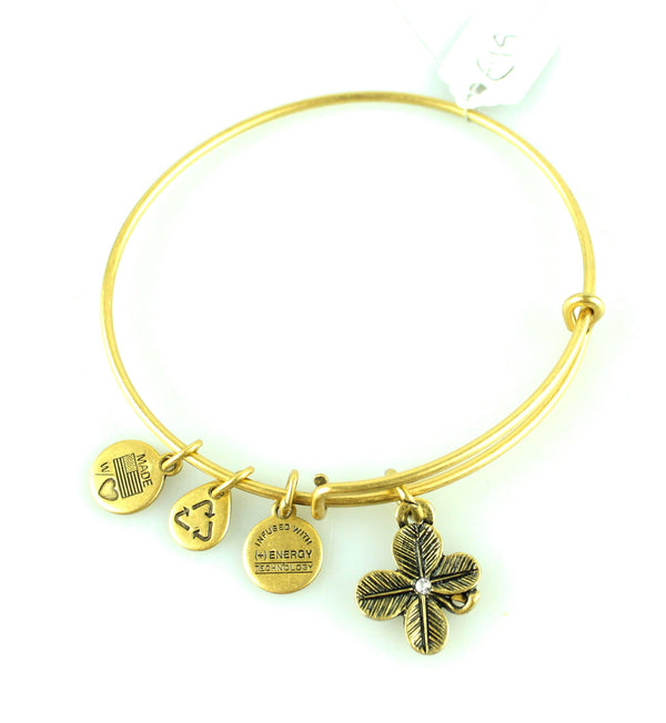 Alex And Ani Gold Floral Beaded Bracelet