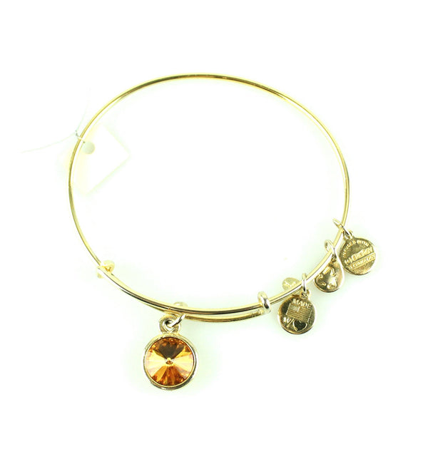 Alex And Ani Orange Stone Bangle