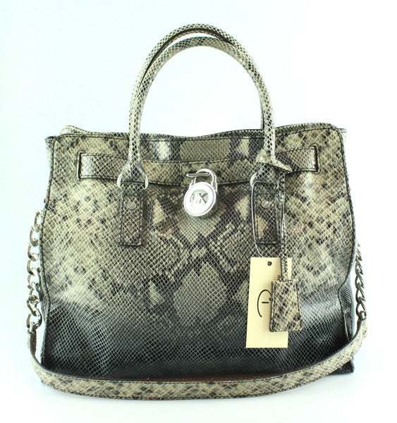 57b7bd7321fb Micheal Kors Faux Snake Ombre Large Hamilton Tote – Designer Exchange Ltd