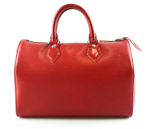 Louis Vuitton Red Epi Leather Speedy 25 SP1016