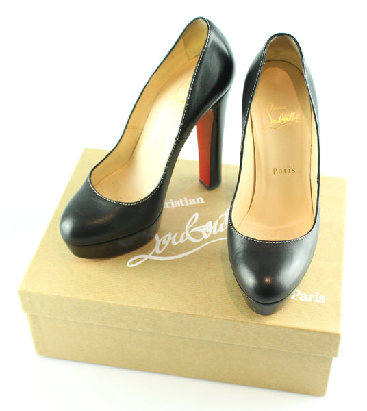 4c01855d3512 Christian Louboutin Bibi Black Leather Courts EUR 37 UK 4 – Designer  Exchange Ltd