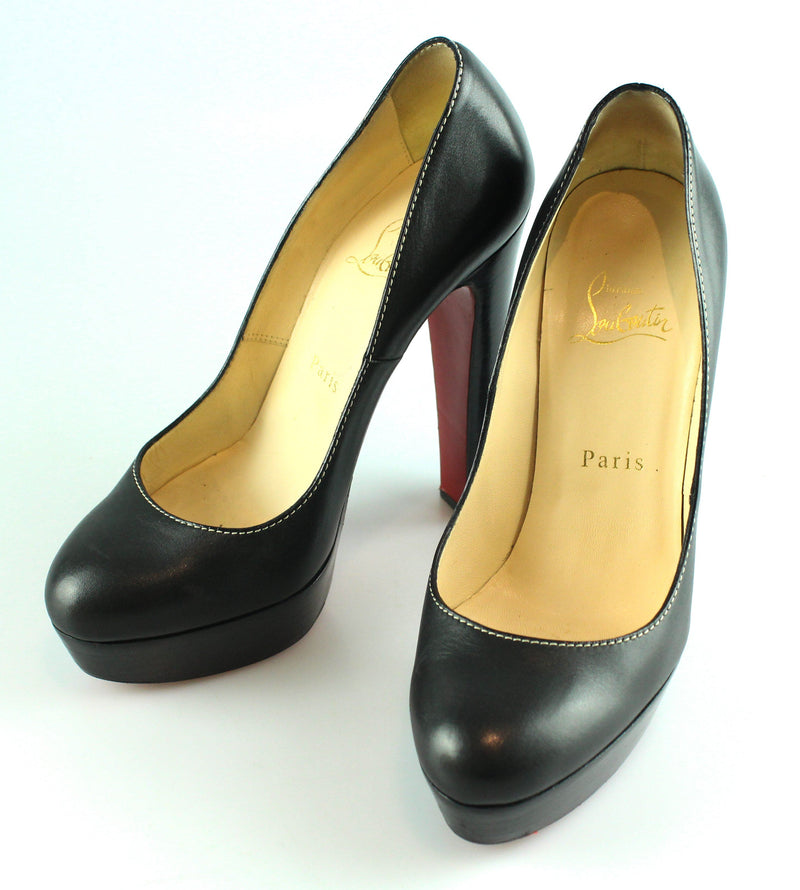 Christian Louboutin Bibi Black Leather Courts EUR 37 UK 4
