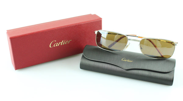 dd75115d117 Cartier thin lens sunglasses boxed designer exchange ltd jpg 600x333 Cartier  140
