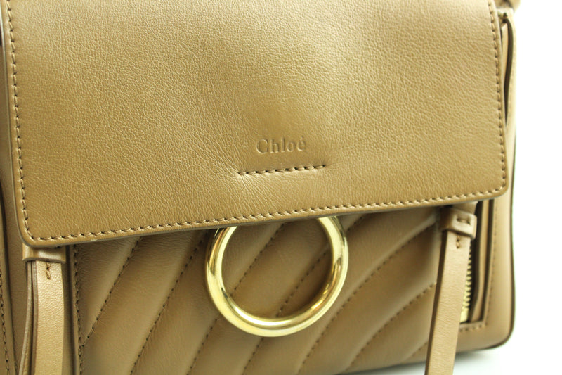 Chloe Mini Quilted Faye Day Bag Nut GH (RRP €1350)
