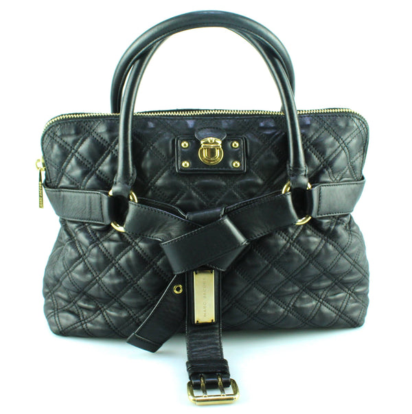 Marc Jacobs Black Leather Stam Tote