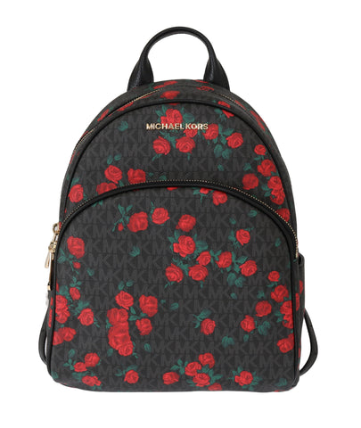 Michael Kors Black/Red Abbey Floral Backpack