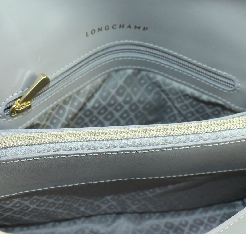 Longchamp Grey Leather Honore 404 Cross Body (2)