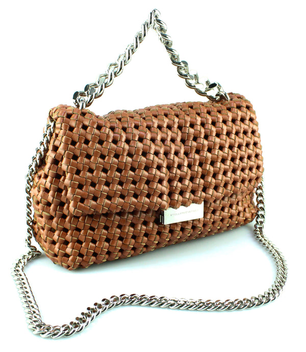 Stella McCartney Becks Brandy Woven Chain Bag