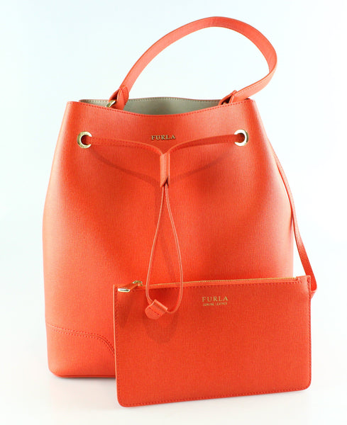 Furla Stacy Mandarin Bucket Bag (No sh strap)