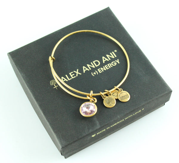 Alex And Ani June Birthstone Light Amethyst Bangle