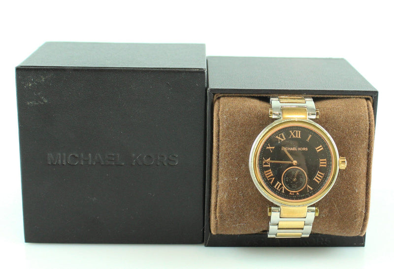 Michael Kors MK5957 Skylar Black Dial Rose Gold Swarovski Crystals Watch 2