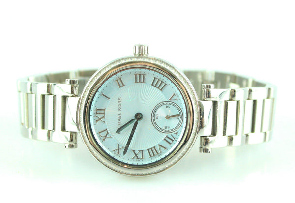 Michael Kors MK5988 Skylar Silver/Blue Swarovski Crystal Watch 2