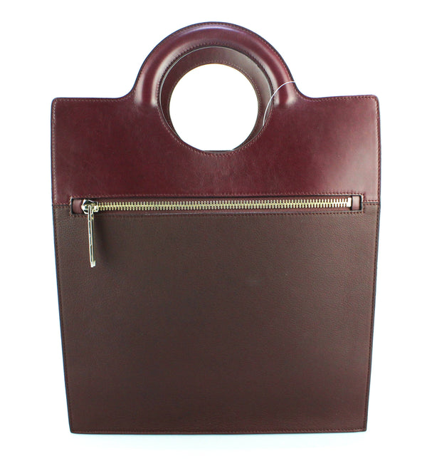 Victoria Beckham Structured Tote Oxblood