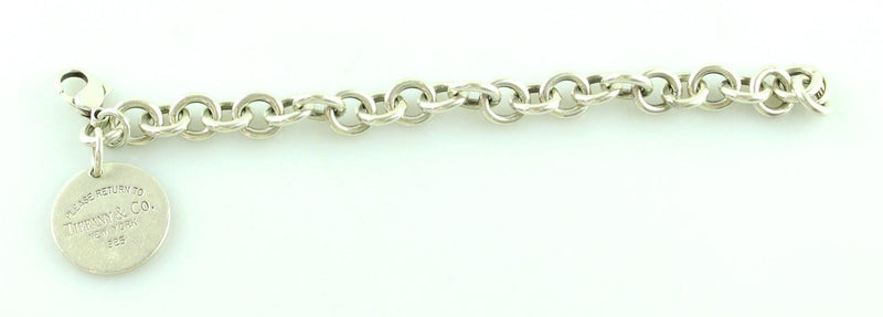 Tiffany And Co Sterling Silver RTT Disc Bracelet 925