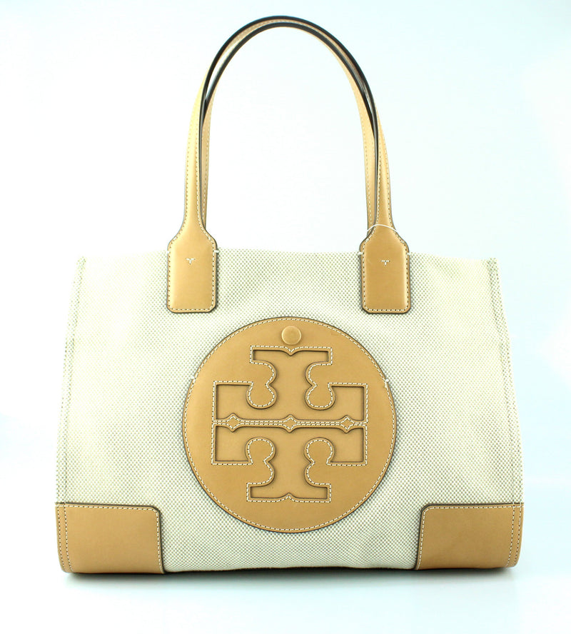 Tory Burch Ella Canvas Tote Beige/Tan