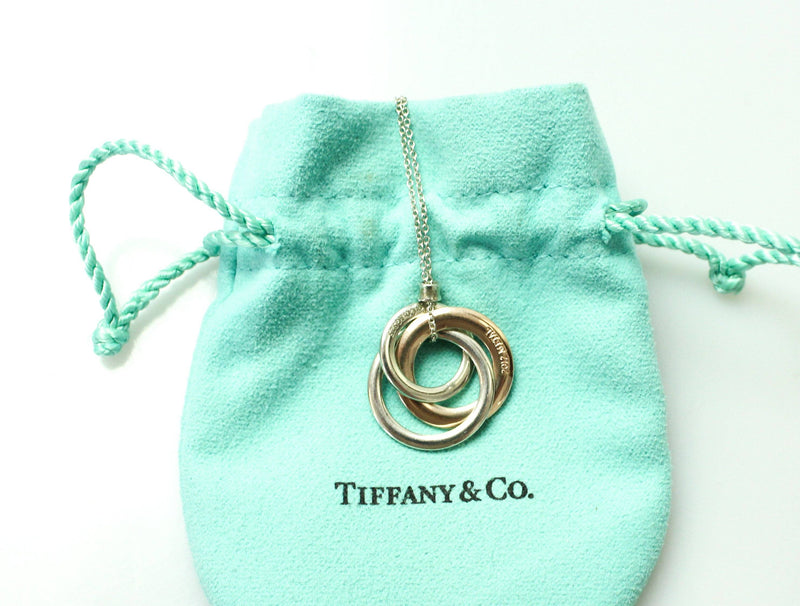 Tiffany & Co Interlocking Circles Pendant Rubedo Metal And Sterling Silver On Chain