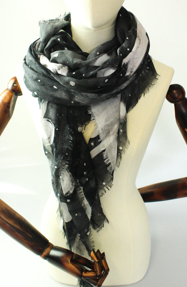Marc Jacobs Stargazer Scarf Black/White/Grey Modal