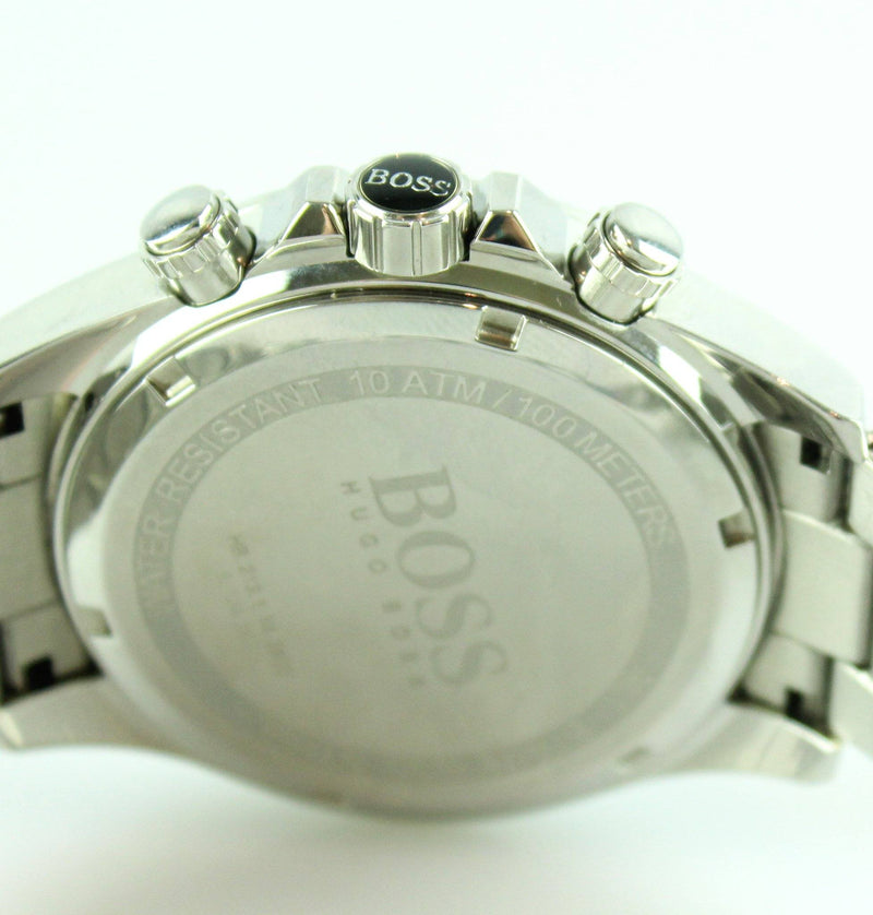 Hugo Boss Stainless Steel Chronograph Large Dial Mens Watch Silver