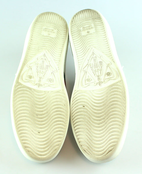 Gucci New Ace Low Heart White/Red Sneakers EUR 38 UK 5