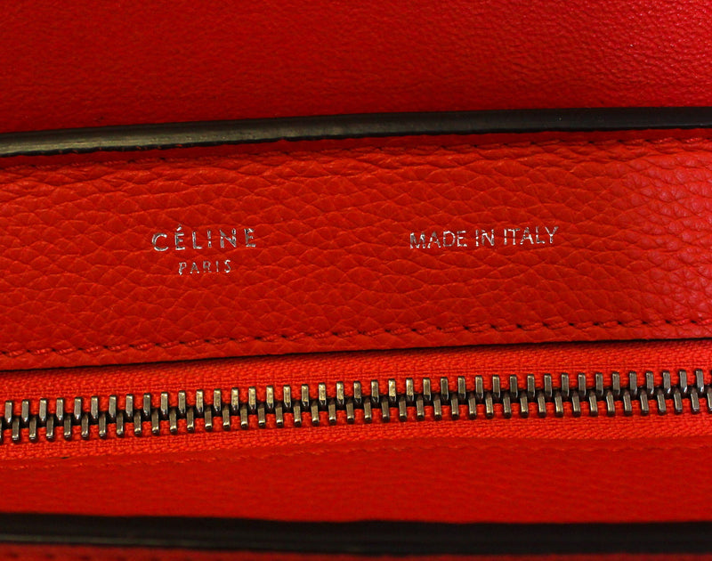 Celine Medium Trapeze In Red Suede And Leather SH (2)