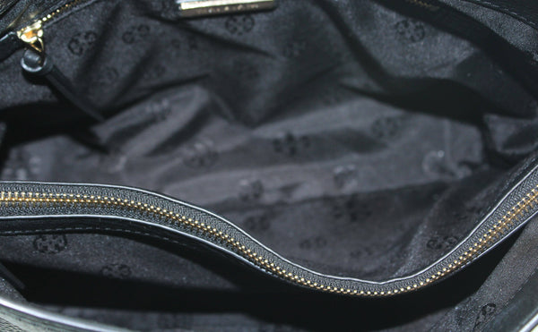 Tory Burch Black Leather Britten Small Tote