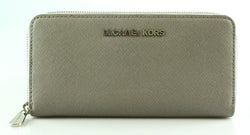 Michael Kors Grey Saffiano Long Zip Around Wallet SH