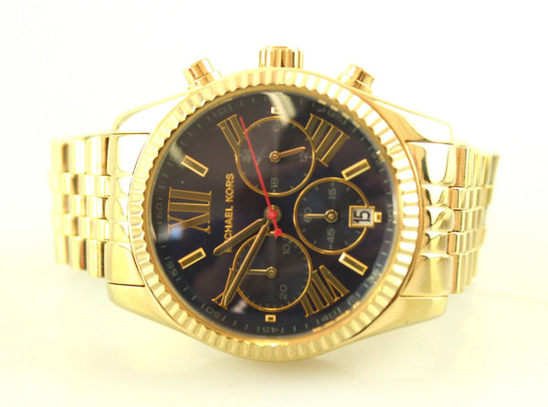 Michael Kors MK6206 Lexington Chronograph Watch Navy Dial