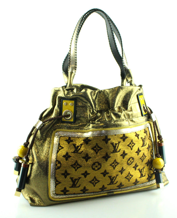 Louis Vuitton Rare Sunbird Lurex Canvas Tote F00089