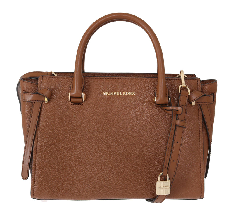 Michael Kors Brown Cassie Leather Satchel Bag