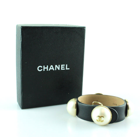 Chanel Hot Spring 2013 Bubble Pearl Leather Bracelet