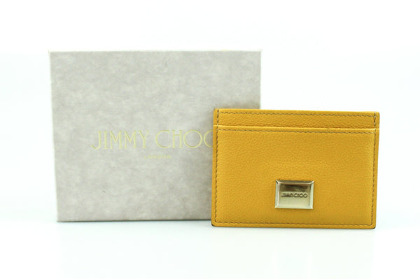 Jimmy Choo Mustard Leather Card Case