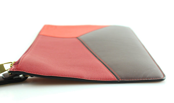 Loewe Colour Block Reds Puzzle Pouch RRP €495