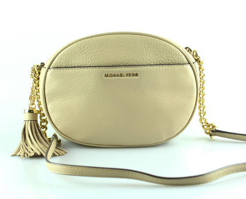 Michael Kors Nude Leather Ginny Studded Messenger