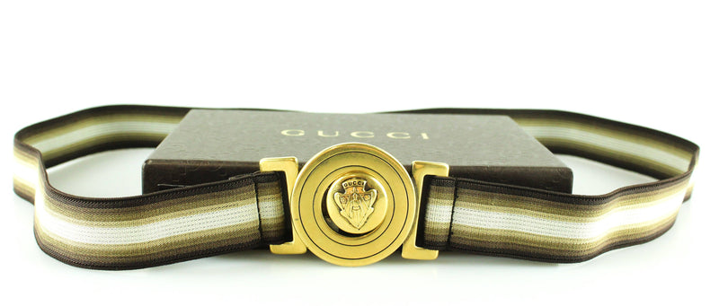 Gucci Hysteria Elasticated Belt Gold Buckle