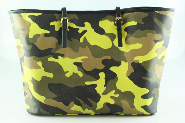 f42e76acbd44 Michael Kors Jet Set Tote Camouflage Neon Green – Designer Exchange Ltd