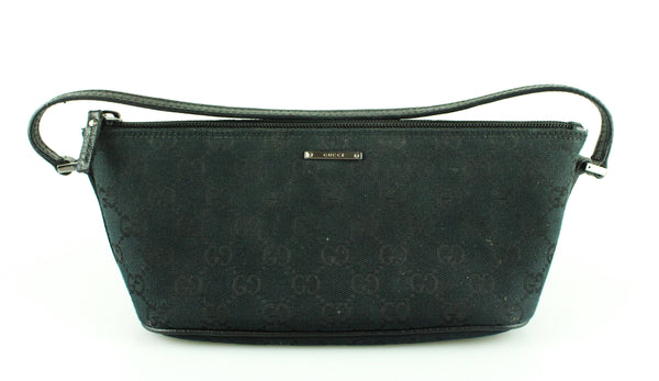 Gucci Small GG Shoulder Bag Black Canvas